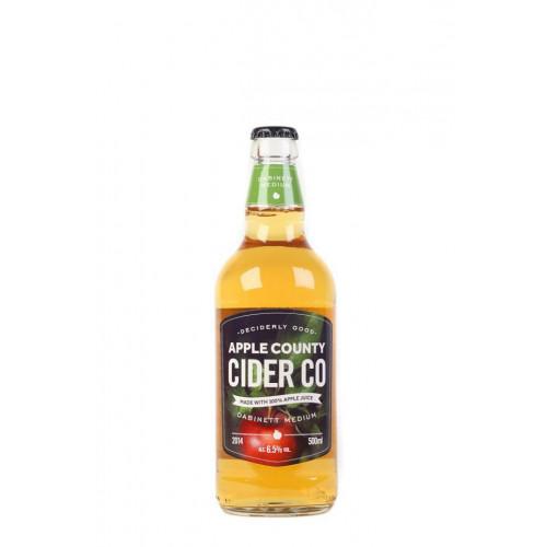 Blas ar Fwyd: Apple County Dabinett Medium cider -