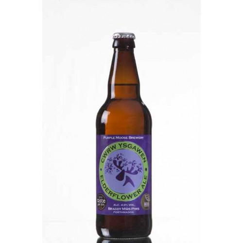 Blas ar Fwyd: Purple Moose Brewery, Ysgawen, 500ml