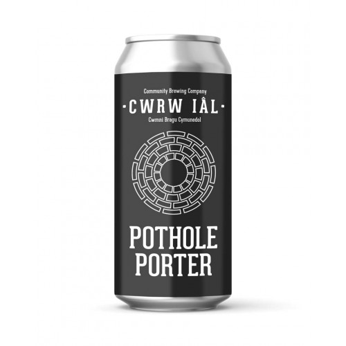 Blas ar Fwyd: Cwrw Ial, Pothole Porter 5.1%, 440ml