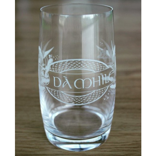 Blas ar Fwyd: 6 x Da Mhile, Branded Gin Glass