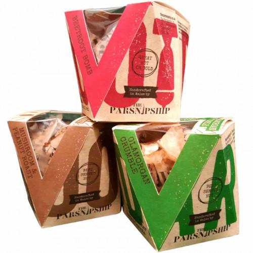 B3210901 - Parsnipship Three Assorted Flavours, 6 x 175g-200g Retail Packs i