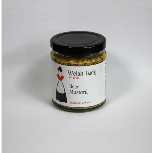 Blas ar Fwyd: Welsh Lady Coarsegrain Beer Mustard