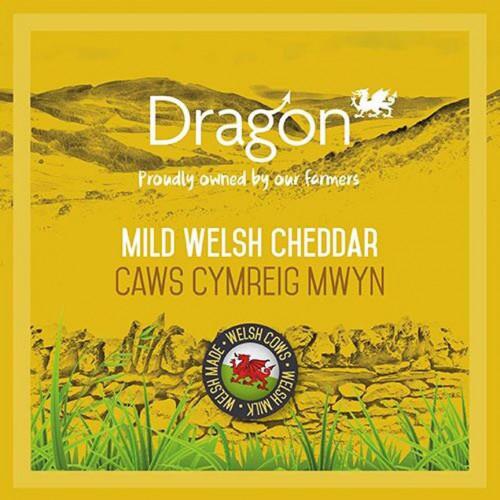 Blas ar Fwyd: Dragon, Mild Welsh White Cheddar, 35