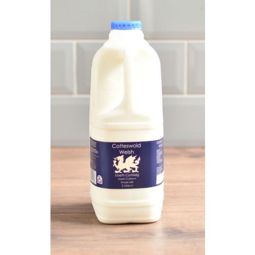Blas ar Fwyd: Cotteswolds Welsh  Whole Milk, 2L.jp