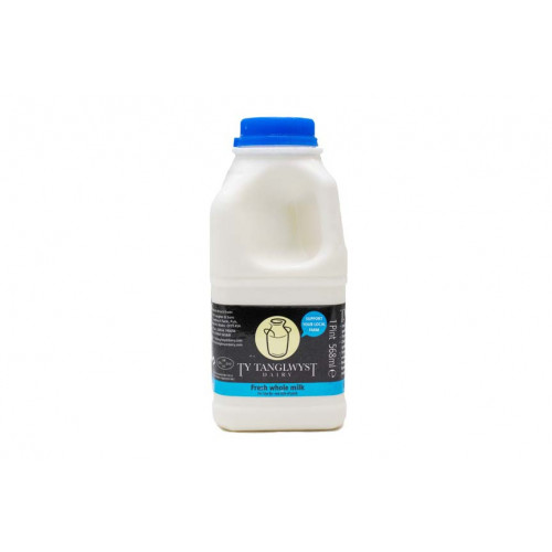 Blas ar Fwyd: Ty Tanglwyst Whole Milk, 1 Pint