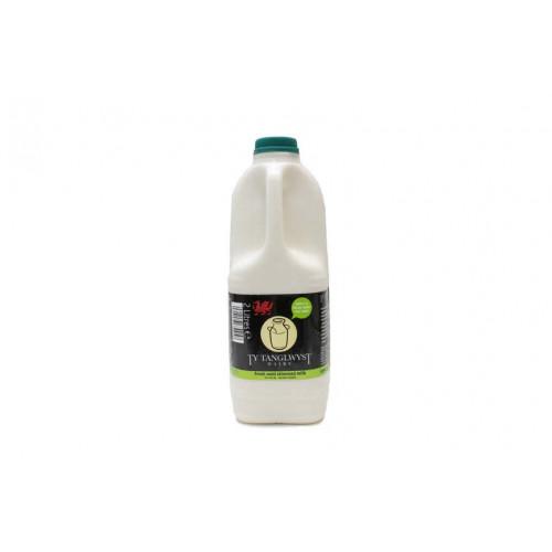 Blas ar Fwyd: Ty Tanglwyst Semi Skimmed Milk, 2 Li