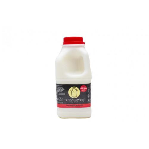 Blas ar Fwyd: Ty Tanglwyst Skimmed Milk, 1 Pint