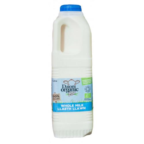 Blas ar Fwyd: Daioni Organic Whole Milk 1Ltr (N).p