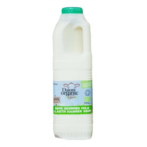 Blas ar Fwyd: Daioni Organic Semi Skimmed Milk 1Lt