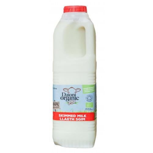 Blas ar Fwyd: Daioni Organic Skimmed Milk 1Ltr (N)
