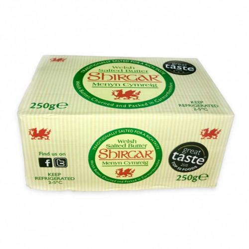 Blas ar Fwyd: Shirgar, Salted Welsh Butter, 250g B