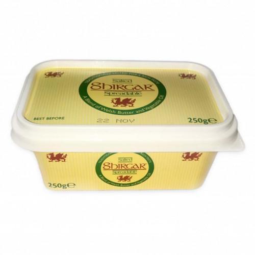 Blas ar Fwyd: Shirgar, Spreadable Butter, 250g Tub