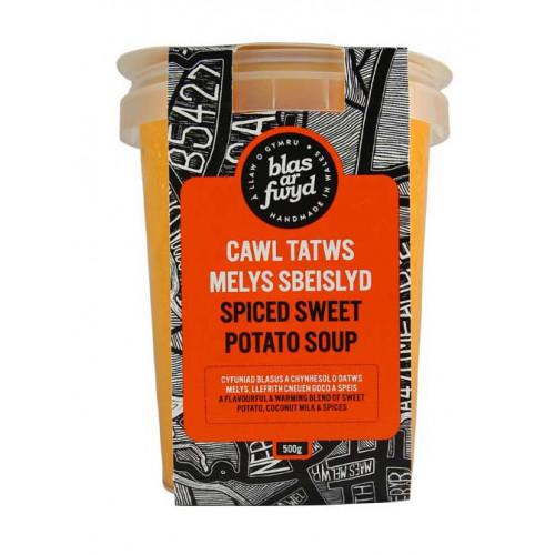 Blas ar Fwyd: BAF, Fresh Soup, Spicy Sweet Potato,
