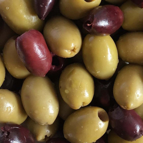 Blas ar Fwyd: Real Olive Co Pitted Mixed Green and
