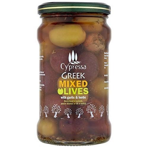 Blas ar Fwyd: Cypressa Mixed Olives Garlic and Her