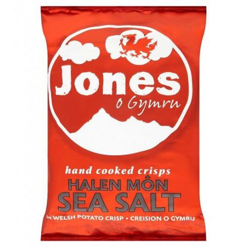 Blas ar Fwyd: Jones Crisps Halen Mon Sea Salted -