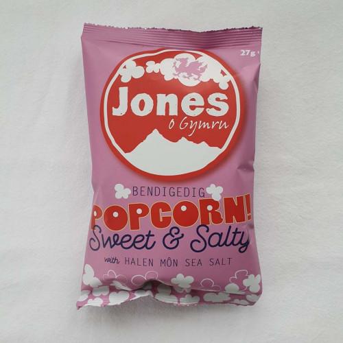 Blas ar Fwyd: Jones Popcorn Sweet and Salted, 28 x