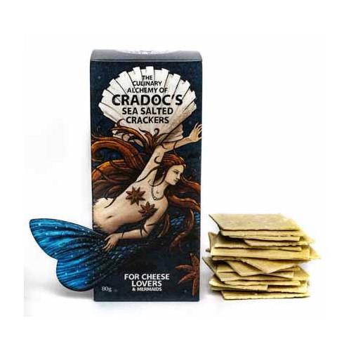 Blas ar Fwyd: Cradocs Sea- Salted Crackers  80g.jp