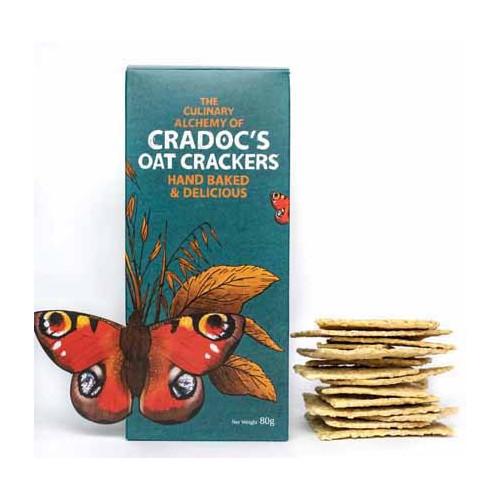 Blas ar Fwyd: Cradocs Oat Crackers  80g.jpg