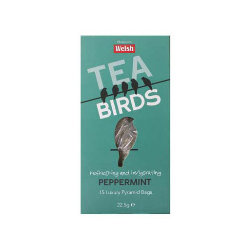 T1102601 - Welsh Brew Tea Birds Peppermint, 15 Bags Box