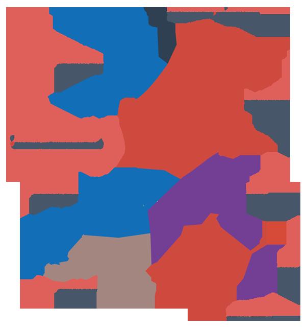 Blas ar Fwyd Wales delivery map