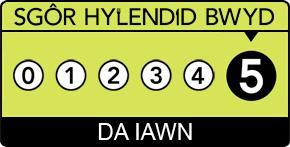 Food hygiene rating 5 star Welsh