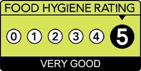 Food hygiene rating 5 star English